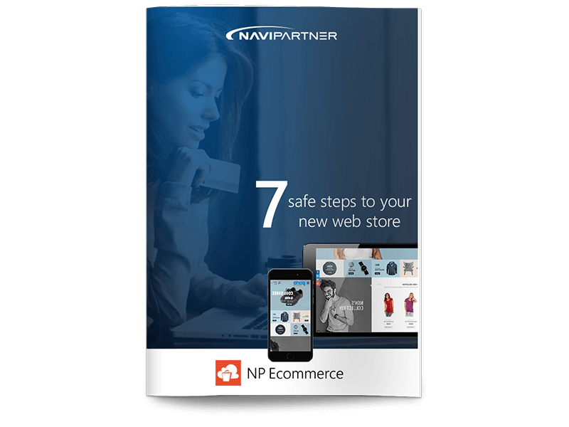 Front page of 7 sage steps to your new web store