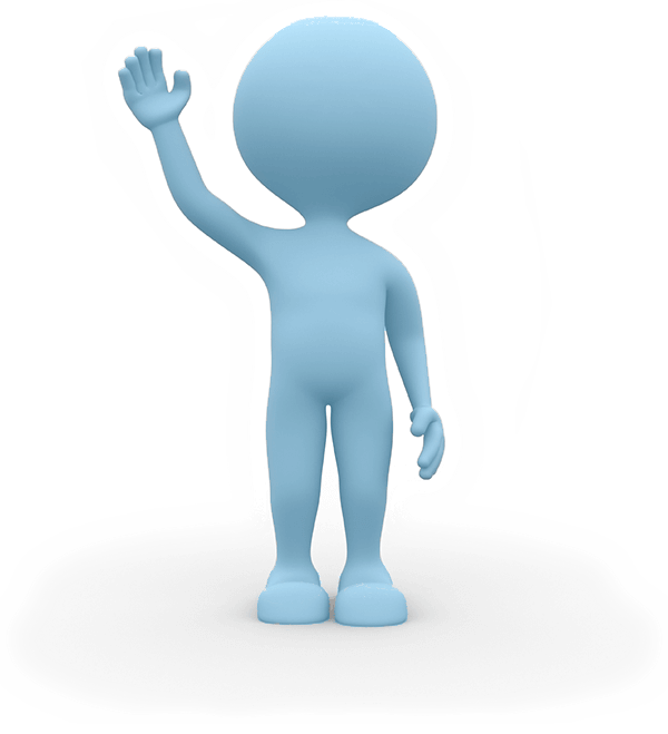 Unsubscribe from newsletter Blue animated man waving