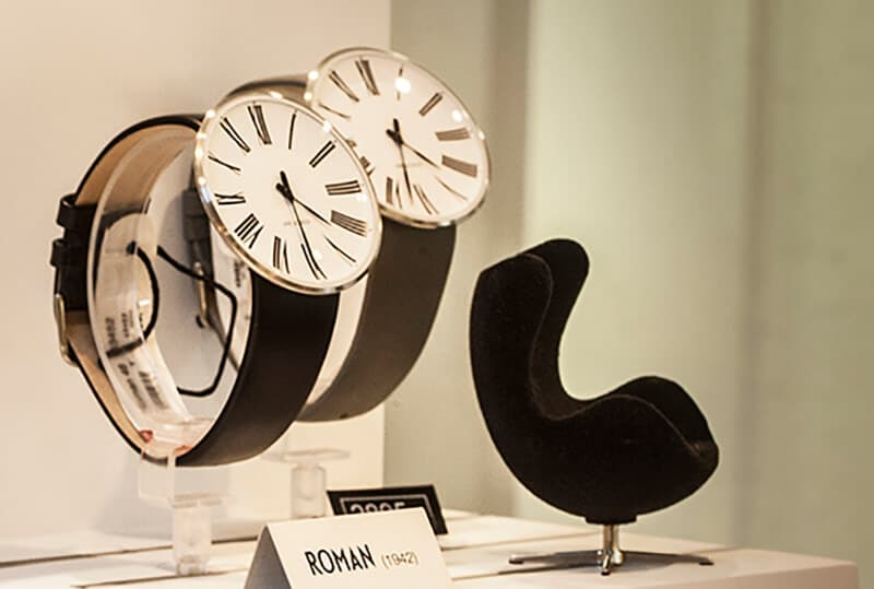 Two watches and one small black chair