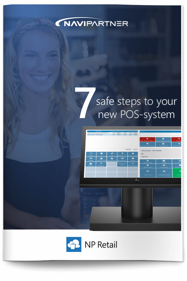 """Frontpage of """"7 secure steps to your new ticket system"""" with blue seven"""