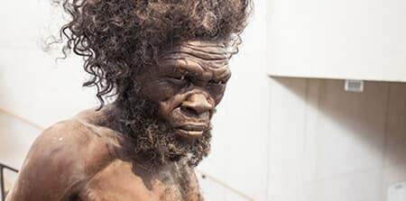 Sculpture of Prehistoric Man from the Moesgaard Museum