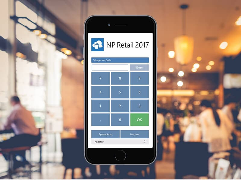 mPOS on mobile screen
