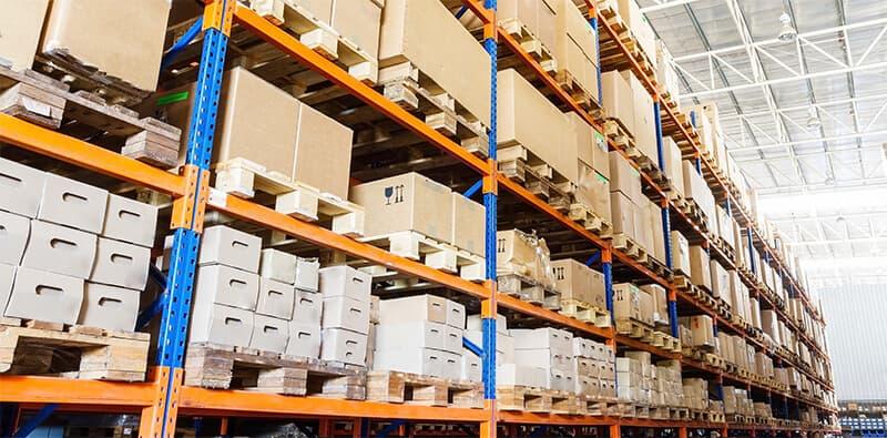 Shelf of warehouse in warehouse