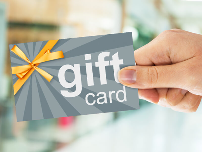 Buy a gift card in our web store and use it right away