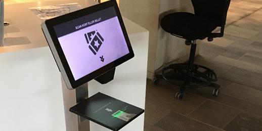 NP Access Control self service machine