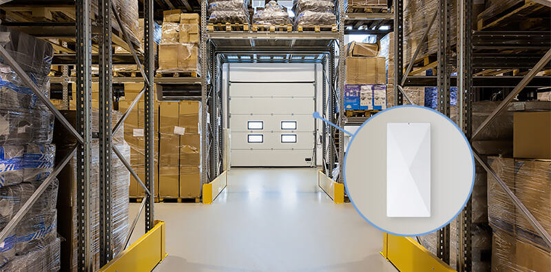 Warehouse with NP WMS RFID reader
